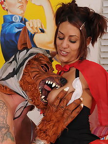 Sexy little red riding hood gets fucked by the big bad wolf