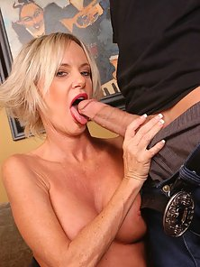 Hot big breasted milf Kara chokes down a huge dick
