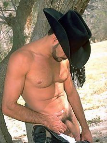 A well hung cowboy gets naked in the great outdoors
