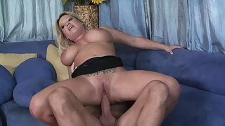 Big Tit Blonde Babe Gets Hardcore Ride on Stiff Stud Partner