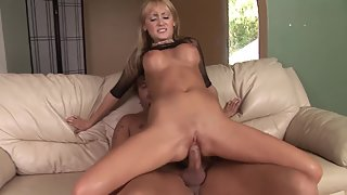Charming Blonde Babe after Gives Head Got Slammed