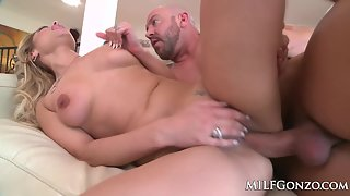 Blonde Lady Alana Luv Sucks Her Partners Big Dick Then Lets Him Ride Her Doggy Style