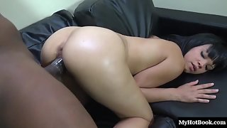 Brunette Babe Ashley Hard Drilled Her Cunt by A Dude