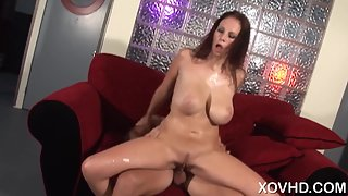 Busty Brunette Gianna Michaels Ready for Pounding Her Shaved Twat