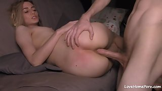 Straight Dick Entering Inside Tight Asshole of Beautiful Chick