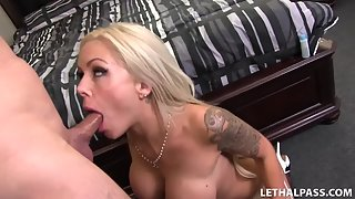 Damn Blonde Chick Gets Pumped Hard On the Big Cock of Her Man